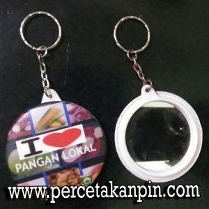 Pin Gantungan Kunci Cermin 58mm