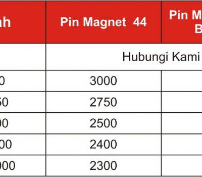 Harga Pin Maghnet 44mm dan 58mm